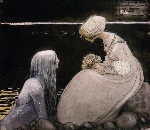 Swedish_folk_tales-illustrated-john_bauer-agneta_and_the_sea_king-merman-mermen-1-